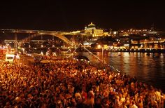 Porto São João Festivities 2015 - 24 May to 4 July - via @portugalcnfdtl 29.05.2015 | In Portugal, the month of June is a time to celebrate popular saints with religious and festive celebrations. Perhaps the largest, most fun and silliest festival can be found in Porto…the Festival of São João de Baptista. Activities include traditional to current musical concerts, boat races, parades, art exhibitions, and a giant fireworks spectacular. In 2015, the São João festival runs from 23 May to 4…