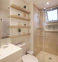 Banheiro clean e lindo by Amei❣ {HI} Sna Bathroom Design Luxury, Bathroom Design Small, Bathroom Layout, Modern Bathroom, Home Interior Design, Master Bathroom, Bathroom Counter Decor, Minimal Bathroom, Marble Bathrooms