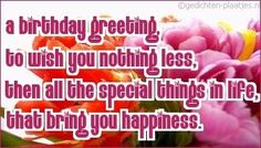 A birthday greeting