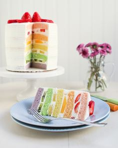 Chinese Bakery Rainbow Cake | Thirsty for Tea