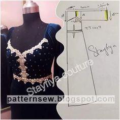 Pattern Sewing: باترون مفصل لقندورة قطيفة
