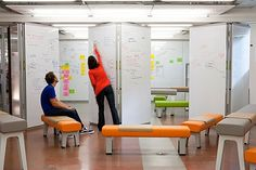 """ Even if your company doesn't have a few million to throw at making your space more innovation-friendly, there are things you can do to optimize what you've got. The d.school team sat down and brainstormed 11 great ways to transform your digs into a little hive of bubbling creativity--or at least a place that manages to capture the occasional good idea."" [fastcompany]"