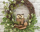 Owl Summer Wreath for Door, Burlap Owl Wreath, Front Door Wreath, Spring Wreath, Outdoor Wreath, Grapevine Wreath,Silk Floral Wreath,Wedding Front Door Decor, Wreaths For Front Door, Burlap Owl, Owl Wreaths, Outdoor Wreaths, Summer Wreath, Flower Bouquets, Flowers, Grapevine Wreath