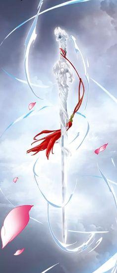 Fantasy Sword, Fantasy Weapons, Anime Fantasy, Ninja Weapons, Anime Weapons, Beautiful Fantasy Art, Dark Fantasy Art, Schwertkunst Online, Espada Anime