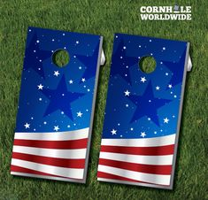 These Wavy American Flag Cornhole boards bring a fun twist to the American Flag design. The game comes complete with two regulation sized boards and eight cornhole bags (4 each of two colors).  Vector Illustration by www.vecteezy.com