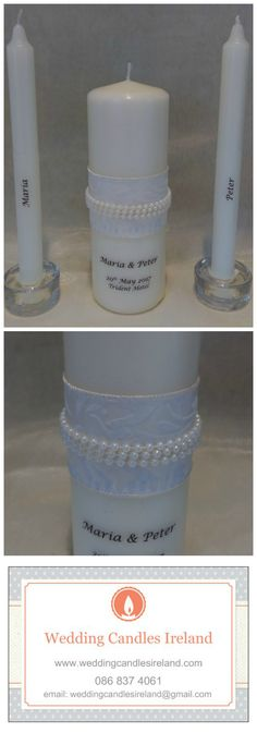 Classic Pearls for your Wedding Ceremony, Personalised Candles