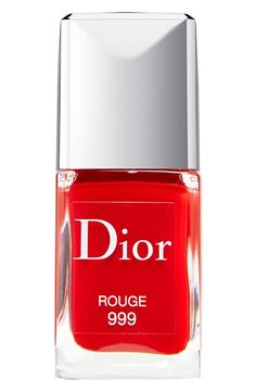 This gorgeous nail color is the perfect pop of red.
