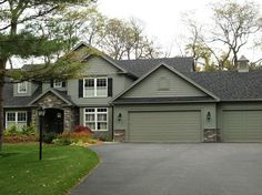 Green Exterior Houses On Ranch Houses | MulchMaid: Which House Color Looks  Best With Foliage? | Paint Color For House | Pinterest | House Colors, ...