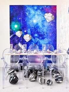 Find and shop thousands of creative projects, party planning ideas, classroom inspiration and DIY wedding projects. Space Party, Space Theme, Birthday Crafts, 1st Birthday Parties, Easy Games For Kids, Astronaut Party, Festa Party, Diy Wedding Projects, Star Wars Party