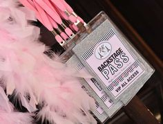 "Create Back Stage Passes for the Girls to ""Enter"" the Fashion Show #fashionbirthday #fashionista #girlbirthday"
