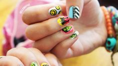 Pop art Coachella Music Festival Nails by @Mafer Cantú.