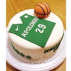 Basketball themed birthday cake #lasallejersey
