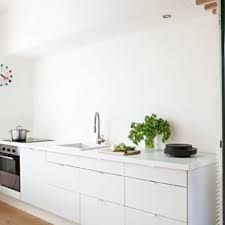 cuisine ikea faktum abstrakt blanche   ikea kitchens   pinterest