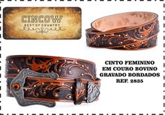 Design - fashion - leather - man - woman - country - western - acesse - www.cincow.com.br