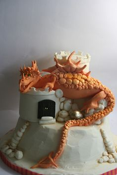 Dragon cake by elizabethscakeemporium, via Flickr  Amazing...