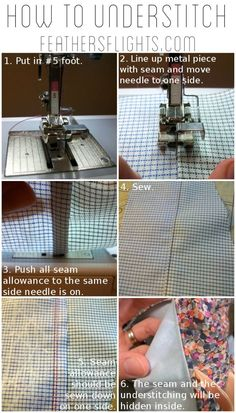 Feather's Flights: A Sewing Blog: Sewing 101 - How to Understitch