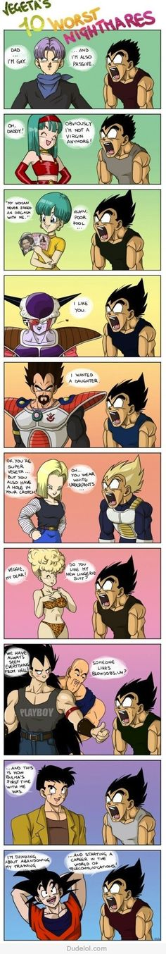 Vegeta's Top 10 Worst Nightmares.