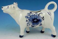 Delft Cow Creamer LOVE