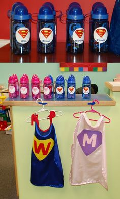 Homemade Personalized Party Favors for SuperHero themed birthday party! Great for boys or girls. Thanks, Organized Mom!