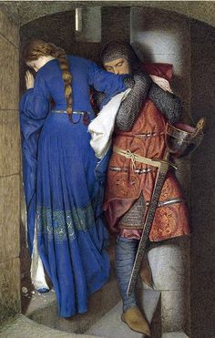 Frederic William Burton [Irish Painter, 1816-1900]  ~ The Meeting on the Turret Stairs