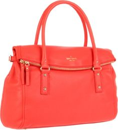 Save big on the Kate Spade New York Cobble Hill Leslie Persimmon Pebbled Leather Satchel! This satchel is a top 10 member favorite on Tradesy. Cheap Designer Handbags, Cheap Handbags, Purses And Handbags, Coach Handbags, Fashion Handbags, Cheap Coach Bags, Cute Purses, Bronze, Beautiful Bags