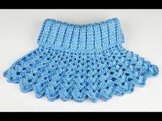 ▶ Манишка Ажурная крючком - 1 часть - crochet lace dickey - YouTube