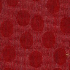 A red spot wool furnishing fabric, suitable for curtains, sofas and other upholstery. Caravan Upholstery, Red Design, Fabric Online, Different Fabrics, Wool
