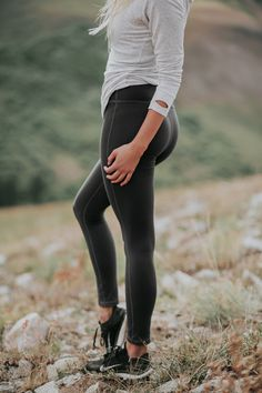 {Granite Go Soft Leggings} - the coziest, most comfortable, slimming and versatile high waisted leggings! also available in Millcreek Blue & Rosewood | @albionfit