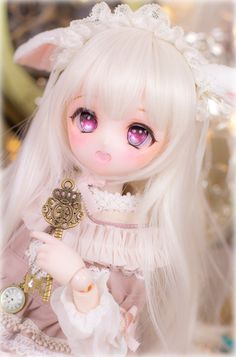 Beautiful Barbie Dolls, Pretty Dolls, Kawaii Doll, Kawaii Anime, Anime Dolls, Blythe Dolls, Dainty Doll, Chibi, Girls Anime