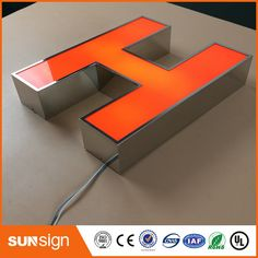 customized advertising 3d light box letter sign Channel Letter Signs, Electronic Signs, 3d Light, Advertising, Stainless Steel, Lettering, Box, Snare Drum, Drawing Letters