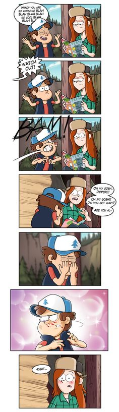 finally it sucks that it took him getting hit for her relize that dipper is so freaking cute!