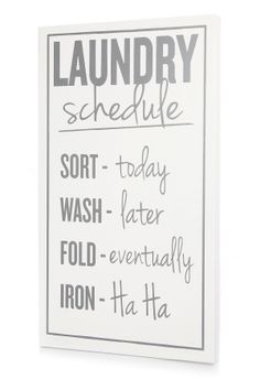 White and Dark Gray Laundry Schedule on HauteLook