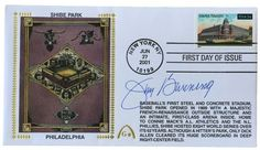 Jim Bunning Signed Shibe Park Gateway First Day Cover SI