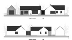 Traditional Large Style Bungalow providing our client with large living spaces, maximizing comfort and practicality. Bungalow Renovation, Bungalow House Plans, Bungalow House Design, Modern Bungalow, House Designs Ireland, Old School House, Irish Cottage, Architect House, Living Spaces