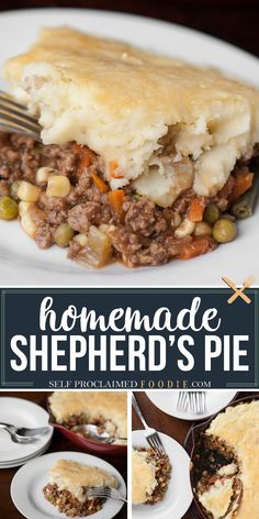 Shepherd's pie, with sharp Irish Cheddar mashed potatoes over a savory ground beef and vegetable mixture with a flavorful sauce, is comfort food at its finest. This easy homemade dinner recipe also uses a Guinness Stout to give this delicious meal a huge flavor boost. This is definitely one of my favorite St. Patrick's Day recipes! Low Carb Dinner Recipes, Supper Recipes, Pie Recipes, Casserole Recipes, Appetizer Recipes, Beef Casserole, Yummy Recipes, Recipies, Easy Family Meals