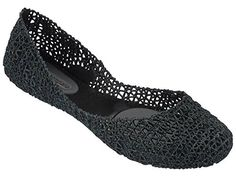 MELISSA CAMPANA PAPEL VI BLACK GLITTER BALLET FLATS WOMEN'S US SIZE 8 * Learn more by visiting the image link.
