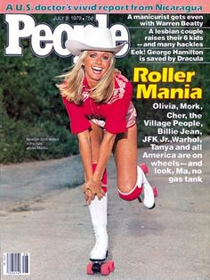 photo | Fitness & Health Fads, Roller Skating, Xanadu, Olivia Newton-John Cover, Hollywood Heyday, Olivia Newton-John