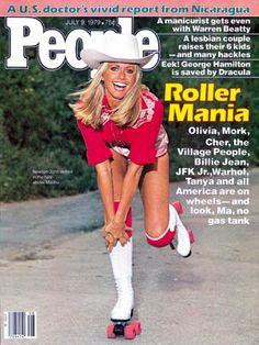 photo   Fitness & Health Fads, Roller Skating, Xanadu, Olivia Newton-John Cover, Hollywood Heyday, Olivia Newton-John