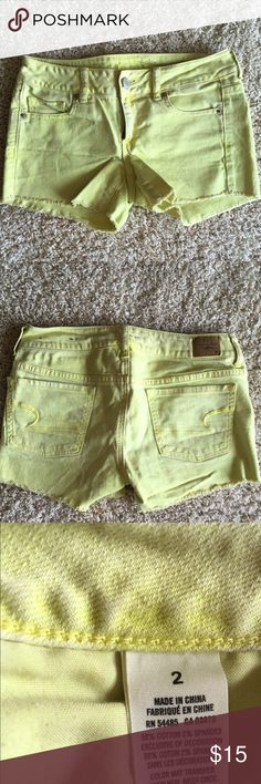 American eagle yellow shorts All cute for spring into summer. Makes you look SOOO tan! American Eagle Outfitters Shorts Jean Shorts
