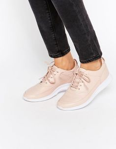 Image 1 of Lacoste Premium Leather Joggeur Nude Sneakers