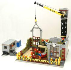 LEGO INSTRUCTIONS modular Construction Site/Cement Mixer/Dump Truck/Bank/Store