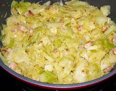 W Mojej Kuchni Lubię.. : młoda kapusta z boczkiem,cebulą na pikantnie z prz...
