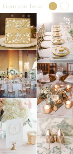 2017 gold and ivory wedding color trends