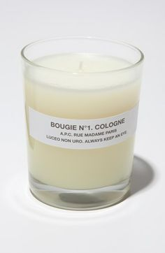 A.P.C. 'Bougie Cologne' Scented Candle available at #Nordstrom