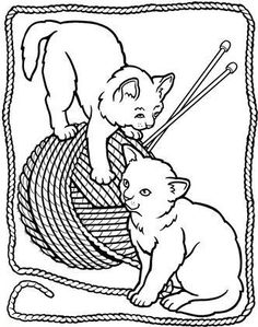 Worksheets Kitten Coloring Page