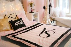 Parisian / Victoria's Secret bedroom decor, looks like Gabi Demartino's room.