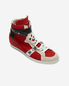Barbara Bui Tri-Color High Top Sneakers