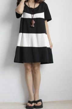 1/1 color/ Blackwhite Long Skirt / Casual by Eloneeclothing, $52.99