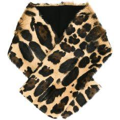 Sonia Rykiel Leopard Print Stole ($428) ❤ liked on Polyvore featuring accessories, scarves, fur stole, leopard print scarves, brown shawl, fur shawl and sonia rykiel