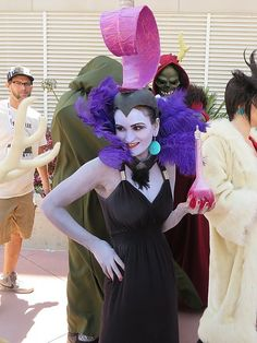She's too pretty to be Yzma! But perfect regardless. That horned king in the back doe...